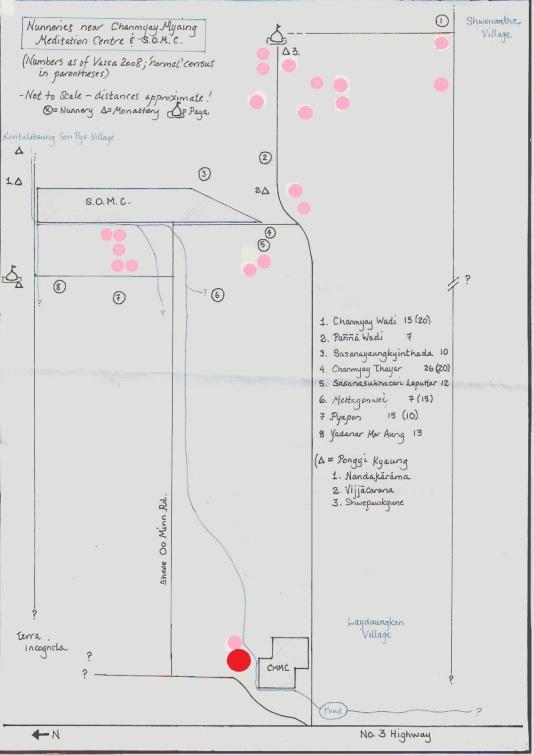 Nunnery Map